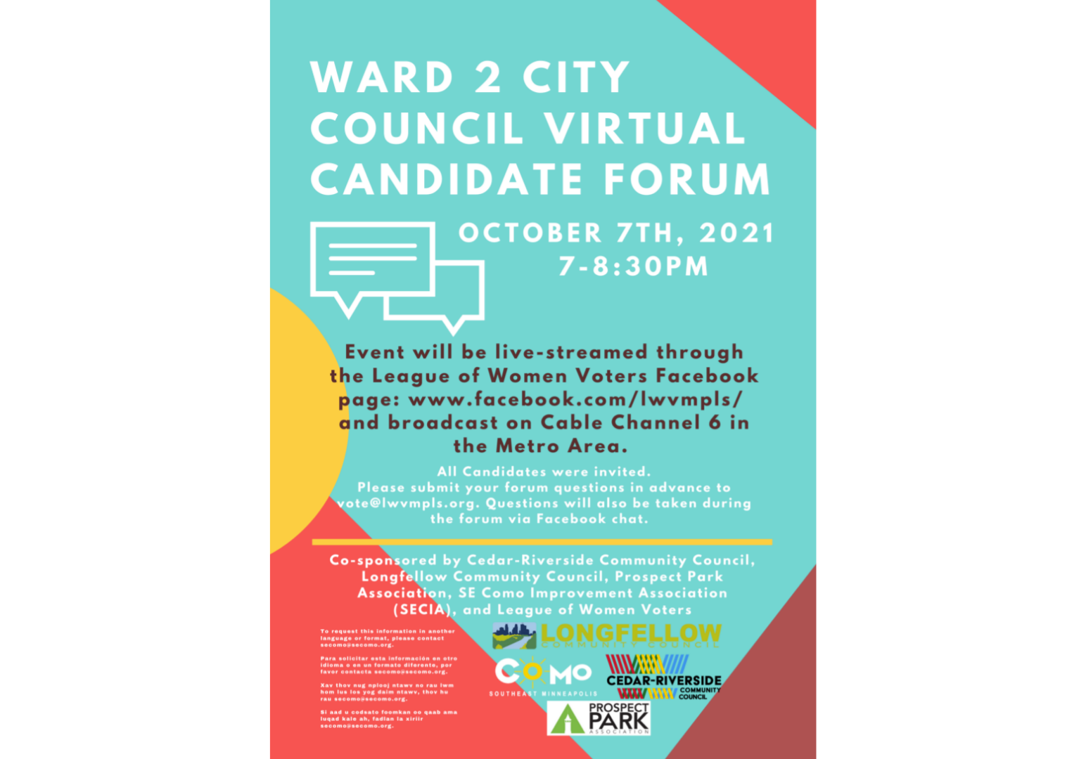 Ward 2City Council Candidate Forum