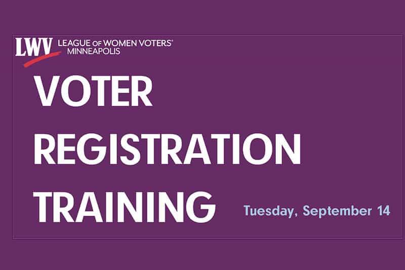 voter registration training at LWVMpls